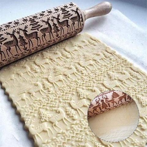 Christmas 4D Rolling Pin