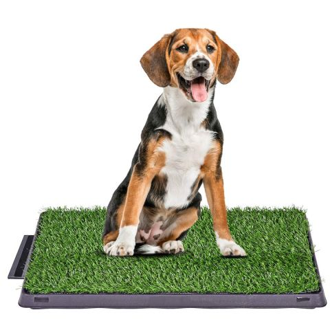 Dog Potty Tray  with Grass mat