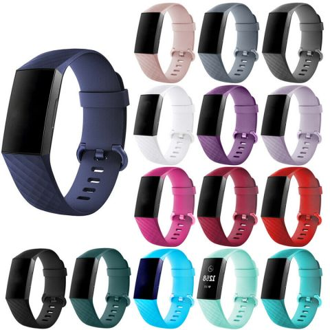 Silicon Watch Band For Fitbit Charge 3