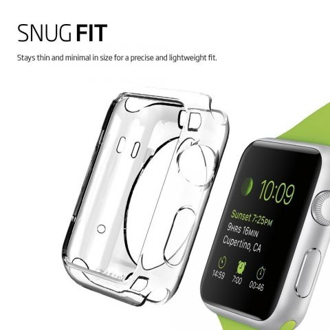 compatible iWatch 1/2/3 Transparent TPU case 42/38mm
