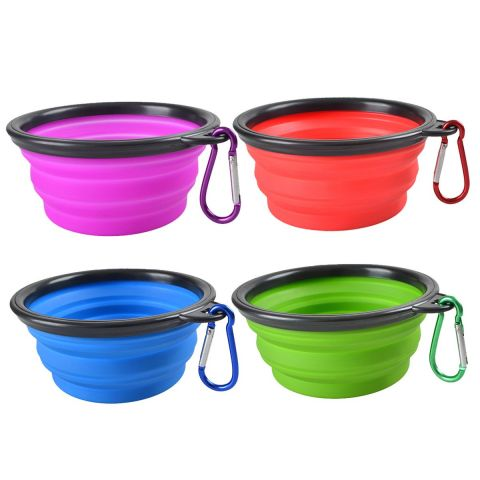 Collapsible Pet Dog Silicone Bowl