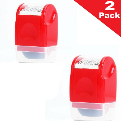 2Pcs Identity Theft Protection Roller Stamp
